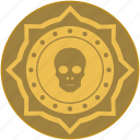 coin, death, exchange, money, skull icon