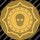coin, death, exchange, money, skull