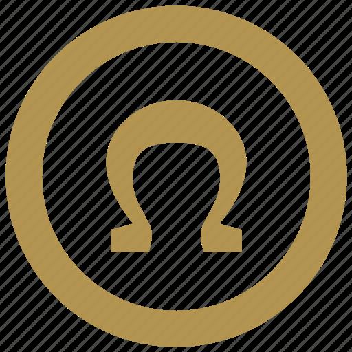 coin, exchange, money, omega icon