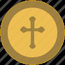 coin, cross, exchange, money, religion
