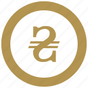 coin, exchange, money, ukraine icon