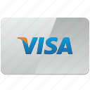 card, credit, pay, payment, visa icon