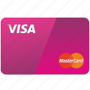 bank, card, debet, payment, visa icon