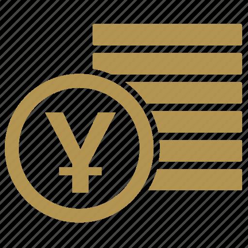 coin, coins, money, yen icon