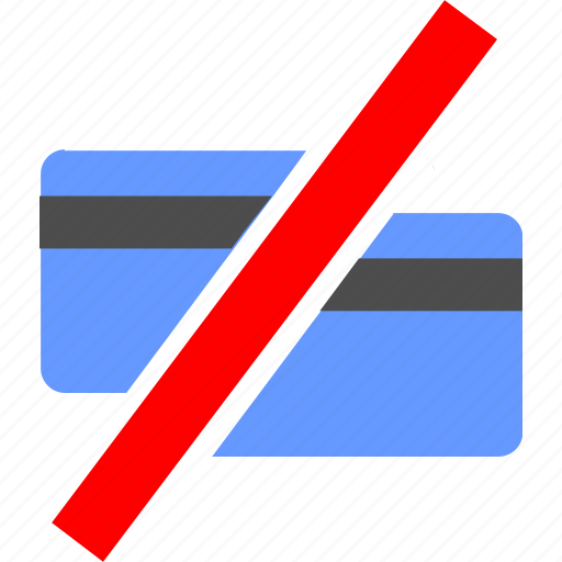 ban, cancel, card, close, credit, payment, service icon