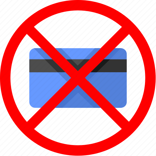 ban, banking, cancel, card, credit, service icon