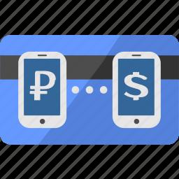 card, credit, dollar, exchange, money, ruble, usd icon
