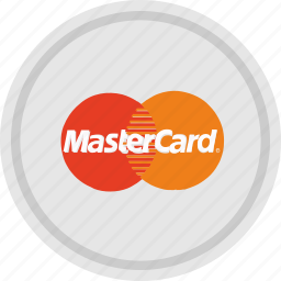 finance, label, mastercard, payment, round, service icon