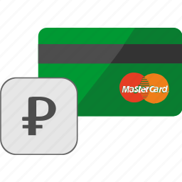 banking, card, credit, payment, ruble, service icon