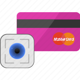 banking, biometry, card, credit, service icon