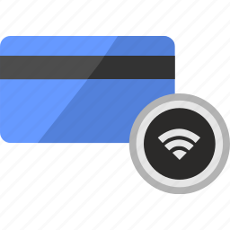 banking, card, credit, function, service, wifi, wireless icon
