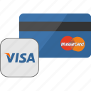 banking, card, credit, payment, service, visa icon