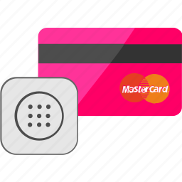 access, banking, card, code, credit, pin, service icon