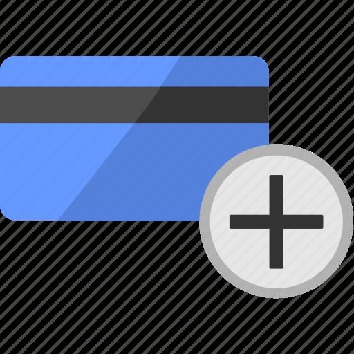 add, balance, card, create, credit, new, plus icon