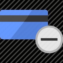 balance, card, credit, finance, minus icon