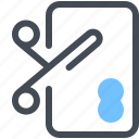 card, cut, method, payment, scissors, shoppayment icon