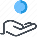 coin, give, hand, money, payment, receive, shop icon