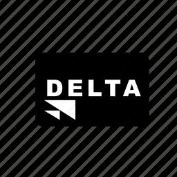 bank, card, credit, debit, delta, transaction icon