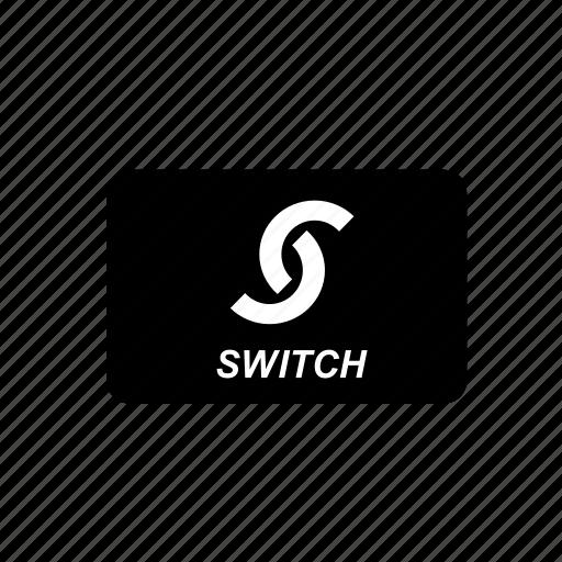 bank, card, credit, debit, switch, transaction icon