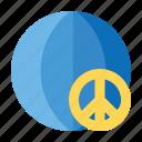 hippie, love, peace, respect, world icon