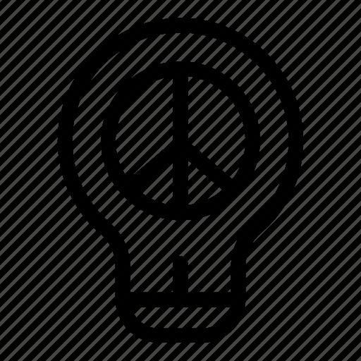 bulb, business, creative, electronics, idea, lightbulb, peace icon