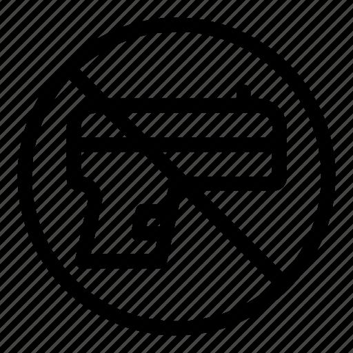 forbidden, gun, no weapons, prohibition, protection, security, war icon