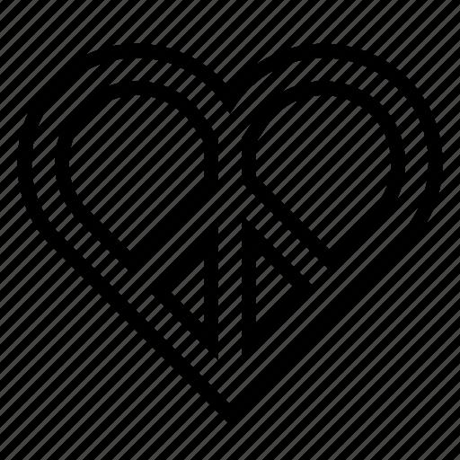 hippie, love, peace, respect icon