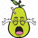 emoji, smiley, pear, cartoon, face