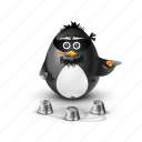 bandit, gangster, pinguin, fortune, choice