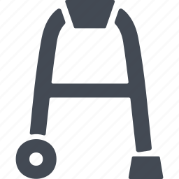 pensioner, pensioners, vehicle, walker icon