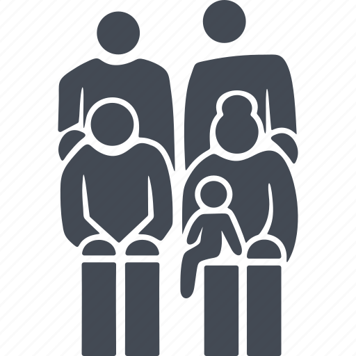 family, pensioner, pensioners, retireee icon