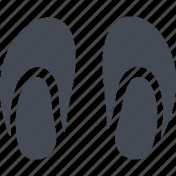 bedroom slippers, footwear, pensioners, slippers icon
