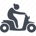 motorcycle, pensioners, retiree, ride, scooter icon
