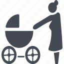 baby carriage, nurse, pensioners, retireee icon