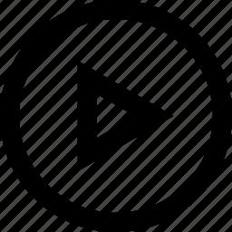 arrow, media, play, right icon