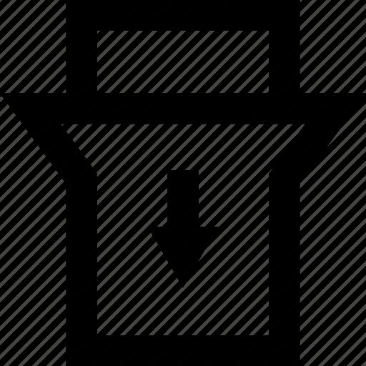 arrow, bottom, down, toggle icon