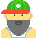 basketball, bearded, hat, hipster, sport