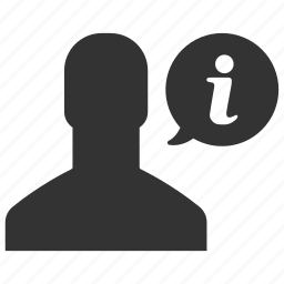 avatar, help, info, information, man, support, user icon