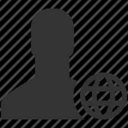 avatar, global, internet, man, person, user, web icon