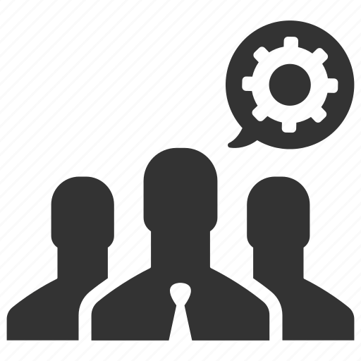 cog, gear, group, manage, management, people, productivity icon