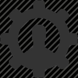 avatar, configuration, gear, person, process, productivity, user icon