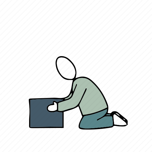 box, people, persons, unpacking icon
