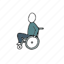 disabled, hospital, people, persons, wheelchair icon