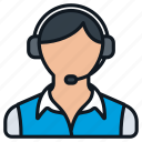 business, casual, contact, female, headset, headshot, profile icon