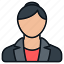 business, female, formal, headshot, people, person, profile icon