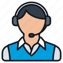 business, casual, contact, headset, headshot, male, profile icon