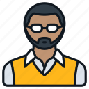 beard, business, casual, glasses, headshot, male, profile icon