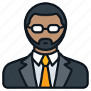 beard, business, formal, glasses, headshot, male, profile icon