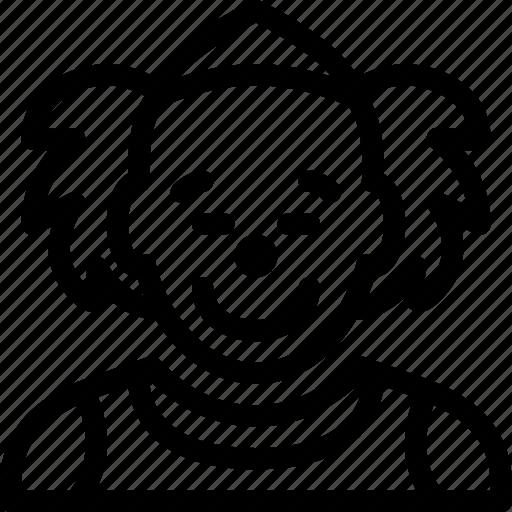 clown, emoticon, face, happy, smiley icon