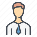 account, avatar, business, male, man, person, user icon